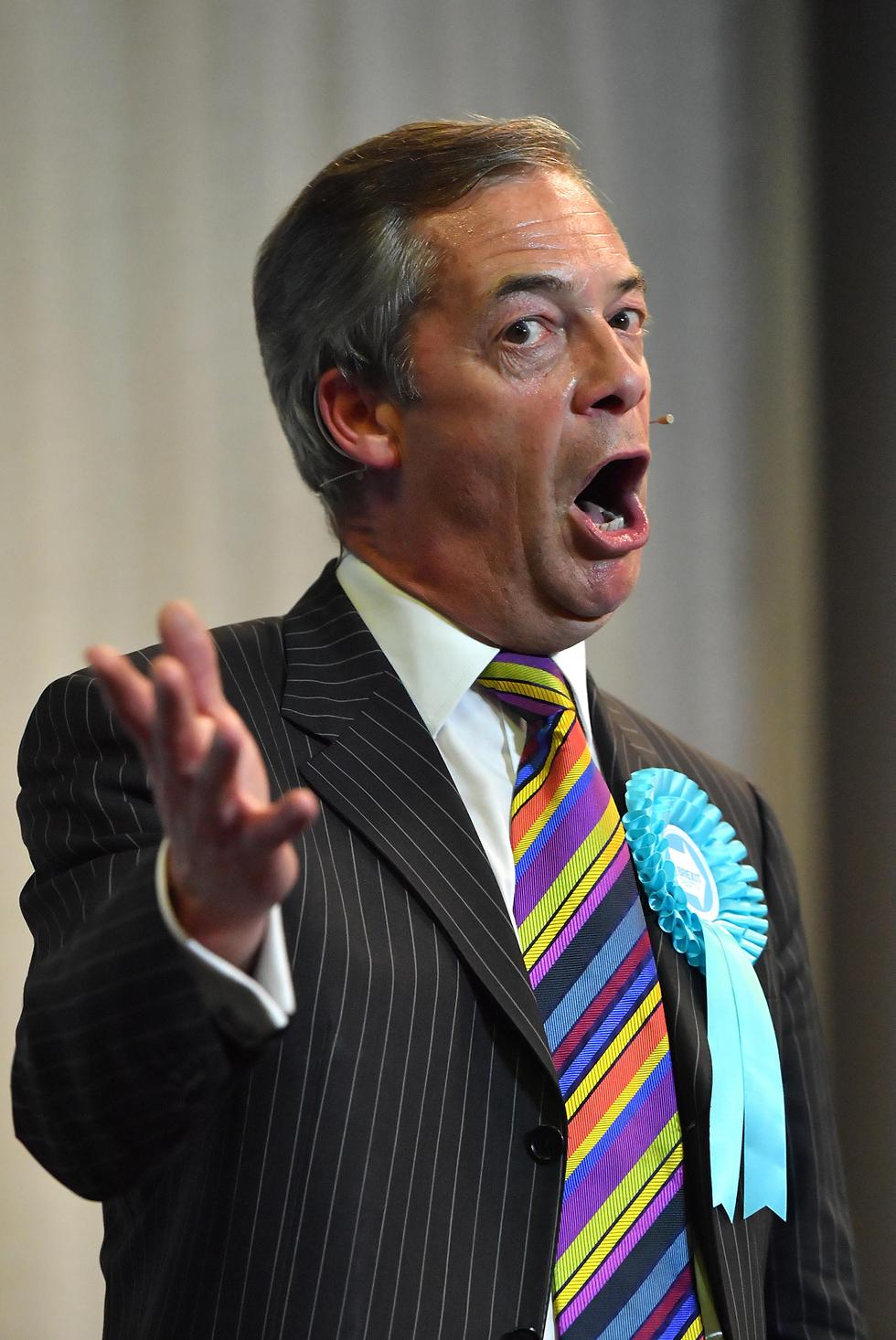 נייג'ל פראג' מפלגת הברקזיט ברקזיט בריטניה בחירות הפרלמנט האירופי (צילום: gettyimages)