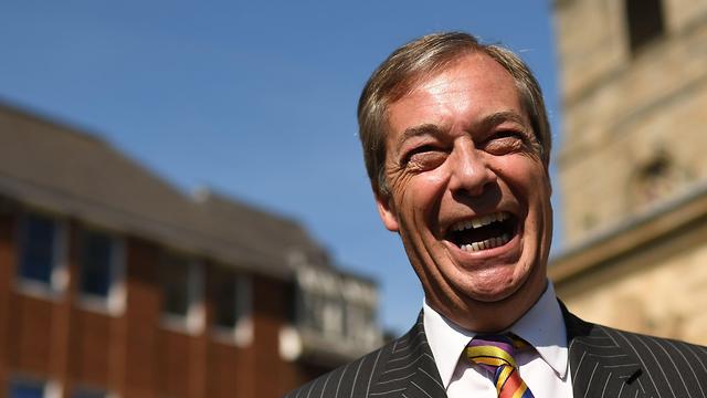 נייג'ל פראג' מפלגת הברקזיט ברקזיט בריטניה בחירות הפרלמנט האירופי (צילום: AFP)