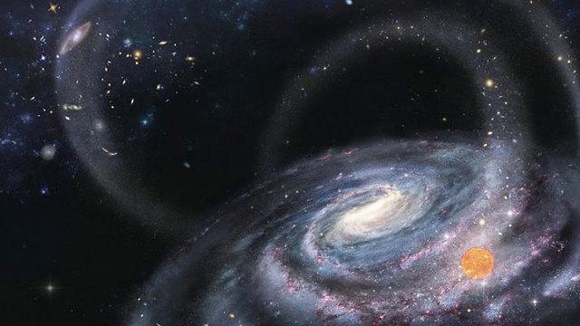 נוצר בסביבה שונה מבחינה כימית. תהליך הספיחה של כוכב מגלקסיה ננסית  (איור: Chinese National Astronomy)