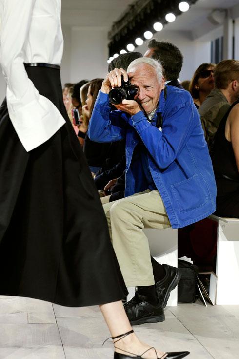 ביל קנינגהם בשבוע האופנה, 2016 (צילום: AP)