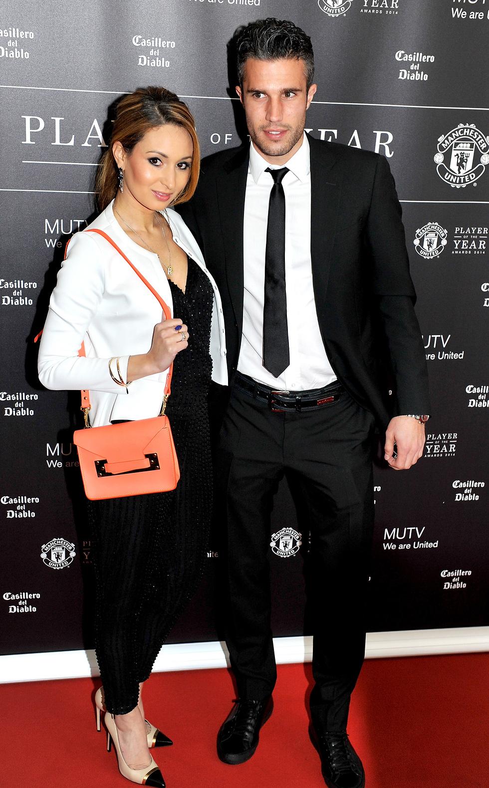 ואן פרסי עם אשתו בושירה (צילום: getty images)