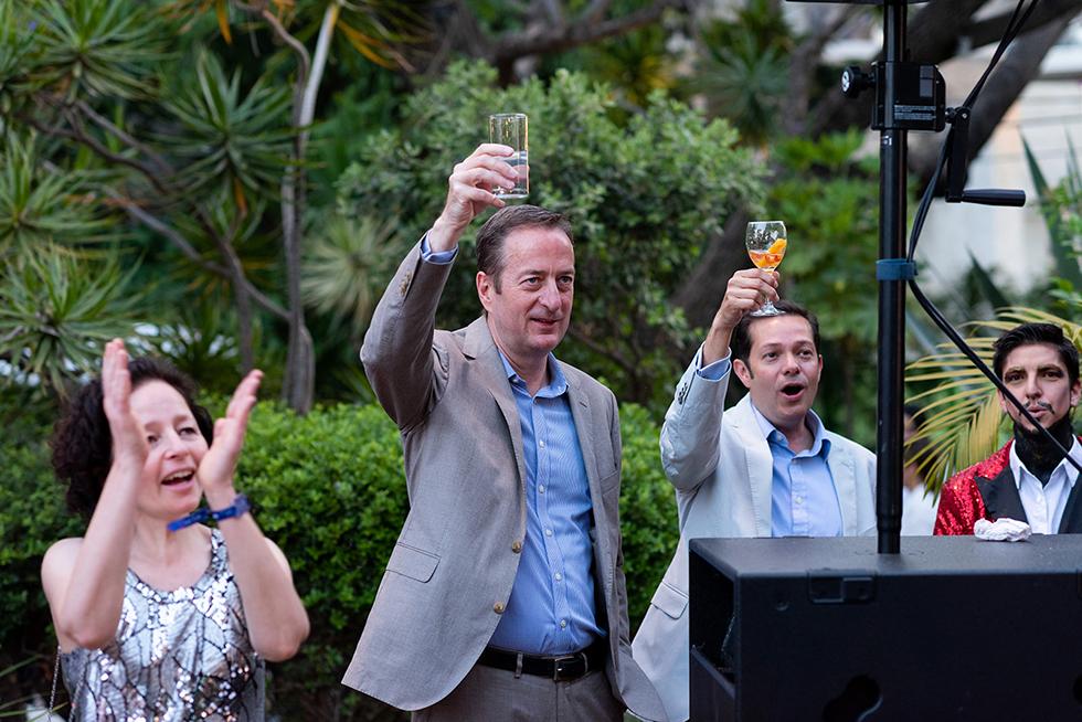 דייויד קוורי באירוע לקראת האירוויזיון (צילום: בן קלמר)