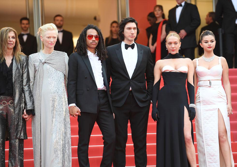 על השטיח האדום: סלינה גומז, קלואי סוויני, אדם דרייבר, לוקה סבאת' וטילדה סווינטון (צילום: AP)