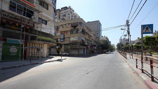 Gaza Strip shops are closed as part of a general strike for Nakba Day