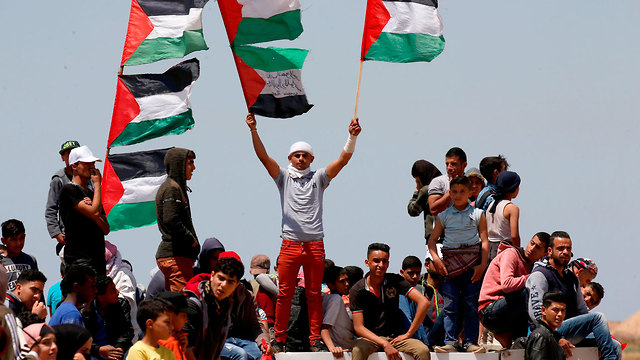 Palestinians in Khan Yunis in southern Gaza mark Nakba Day (Photo: AFP) (Photo: AFP)