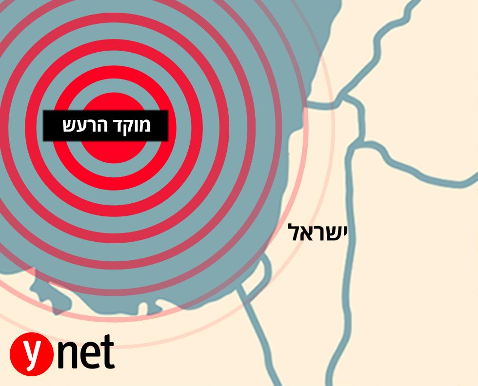 מפה רעידת אדמה ישראל ()