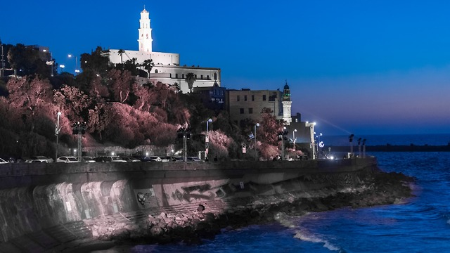 Jaffa lit up for the Eurovision Song Contest earlier this month (Photo: OSRAM GmbH)