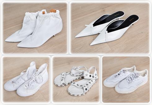 """נעליים לבנות. """"אני לובשת בעיקר שחור, ובוחרת לאזן את המראה עם נעליים לבנות. יש לי אוסף גדול שכולל את ז'יבנשי, אדידס, אלכסנדר וונג ואולסטאר אול ווייט, שהן הנעליים האהובות עליי ביותר"""" (צילום: ענבל מרמרי)"""