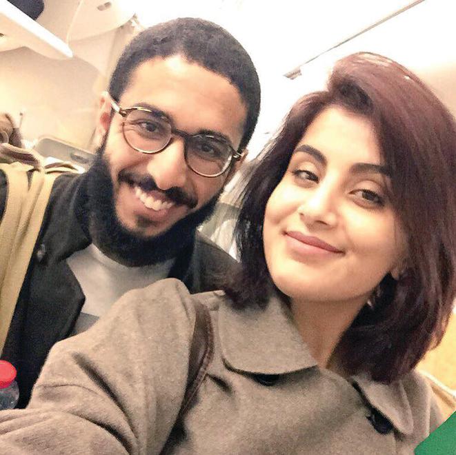 """עם בעלה לשעבר הקומיקאי פאהד אל־בוטיירי, """"סיינפלד מריאד"""""""