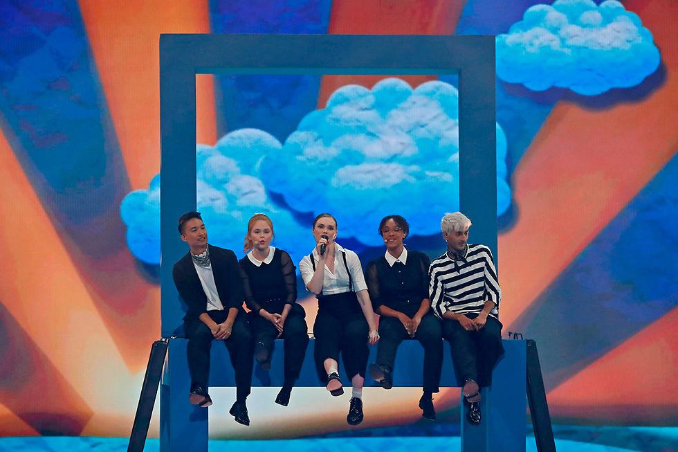 חצי גמר אירוויזיון שני  (צילום: AFP)