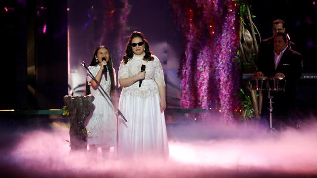 להקת שלוה חצי גמר שני מתחם אקספו תל אביב אירוויזיון 2019 (צילום: רויטרס)