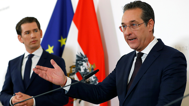 Strache with Austrian PM Kurz