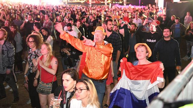 Watching the 2019 final at the Eurovision Village in Tel Aviv  (Photo: Yair Sagi)