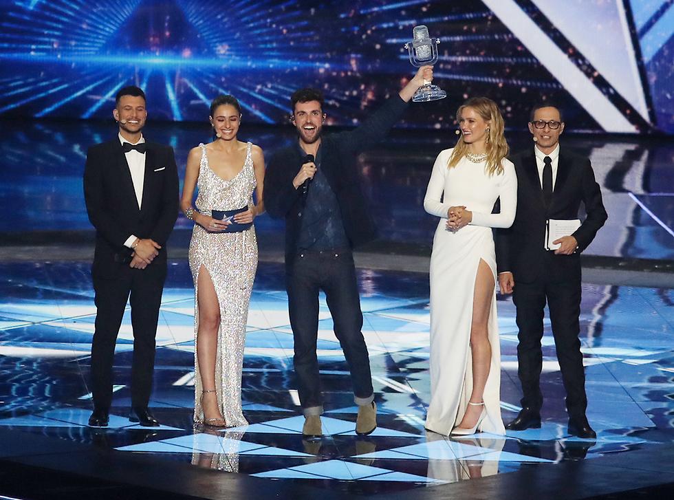 Ведущие шоу с победителем. Фото: Орен Ахарони (Photo: Oren Aharoni)
