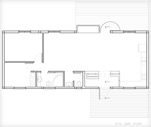 תוכנית הבית לאחר השיפוץ הראשון (תוכנית: ענת באבד)
