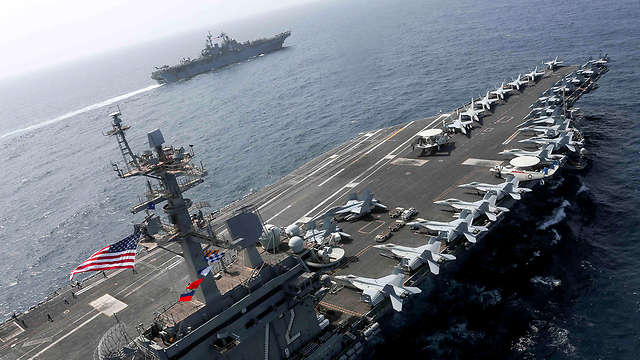 The USS Abraham Lincoln in the Sea of Oman (Photo: Reuters)