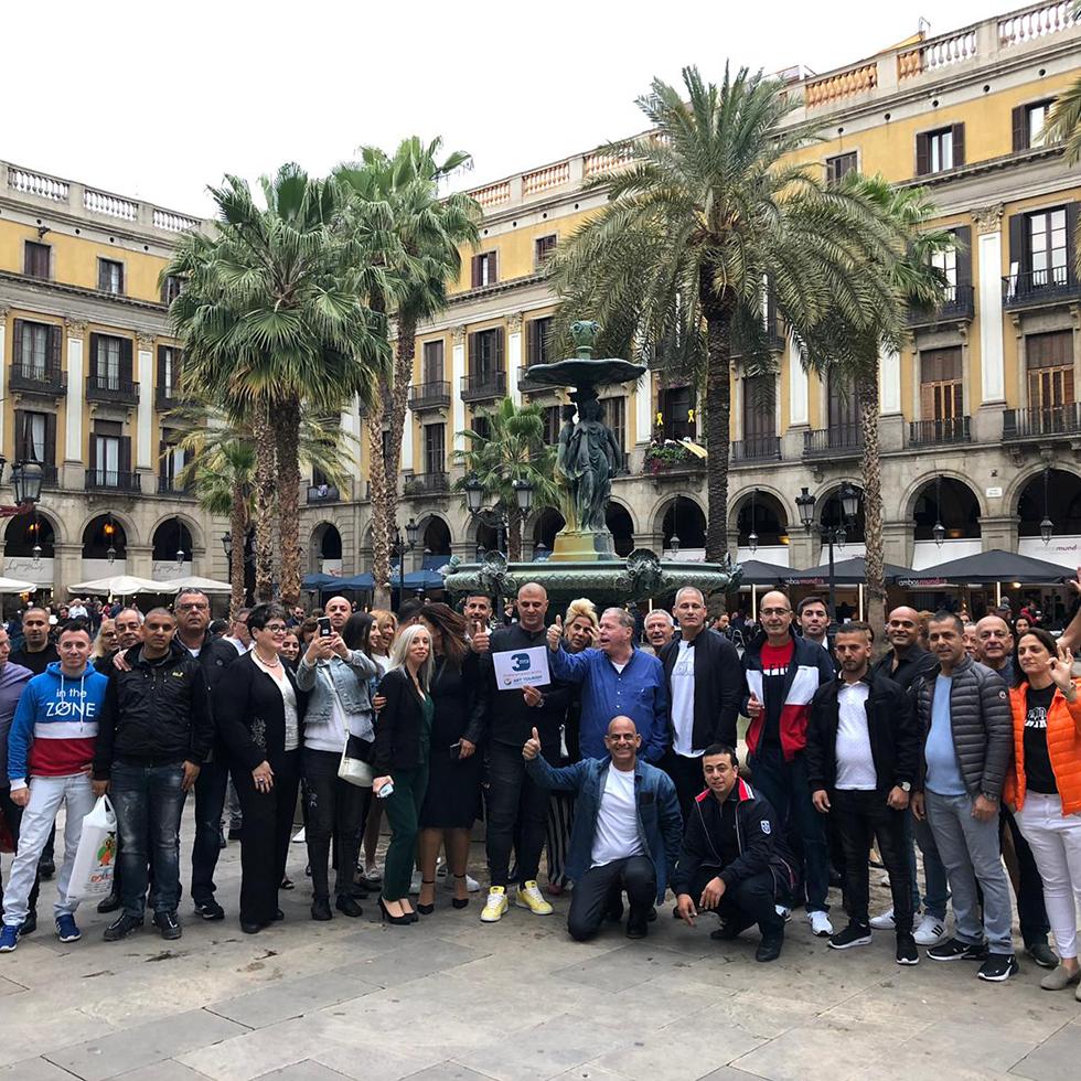רכילות עסקית צוות 3 בברצלונה (צילום: יח