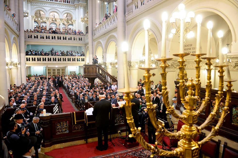בית הכנסת הגדול בריסל בלגיה בחירות לפרלמנט האירופי אירופה (צילום: AFP)