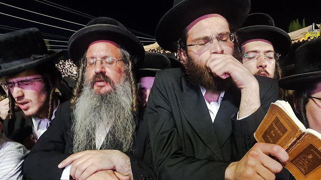 The ultra-Orthodox pray on Lag B'Omer (Photo: Eli Mendelbaum)