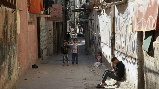 A street in the Shati refugee camp in Gaza City (Photo: AP)