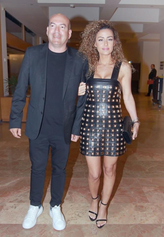 יציבים ואיתנים. אייל ברקוביץ' ובת הזוג שרון (צילום: ענת מוסברג)