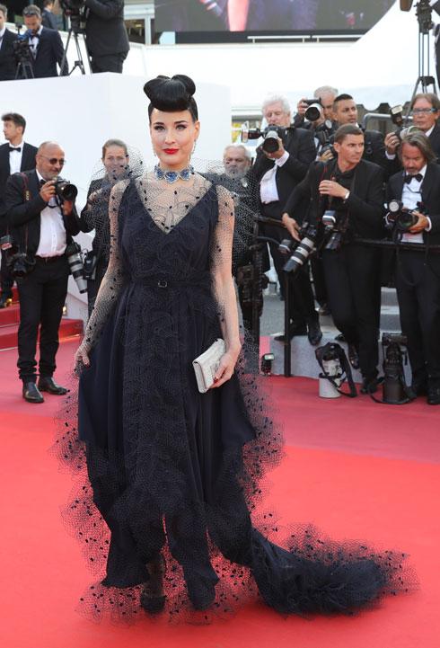 דיטה פון טיז לובשת אלכסיס מאביל  (צילום: Vittorio Zunino Celotto/GettyimagesIL)