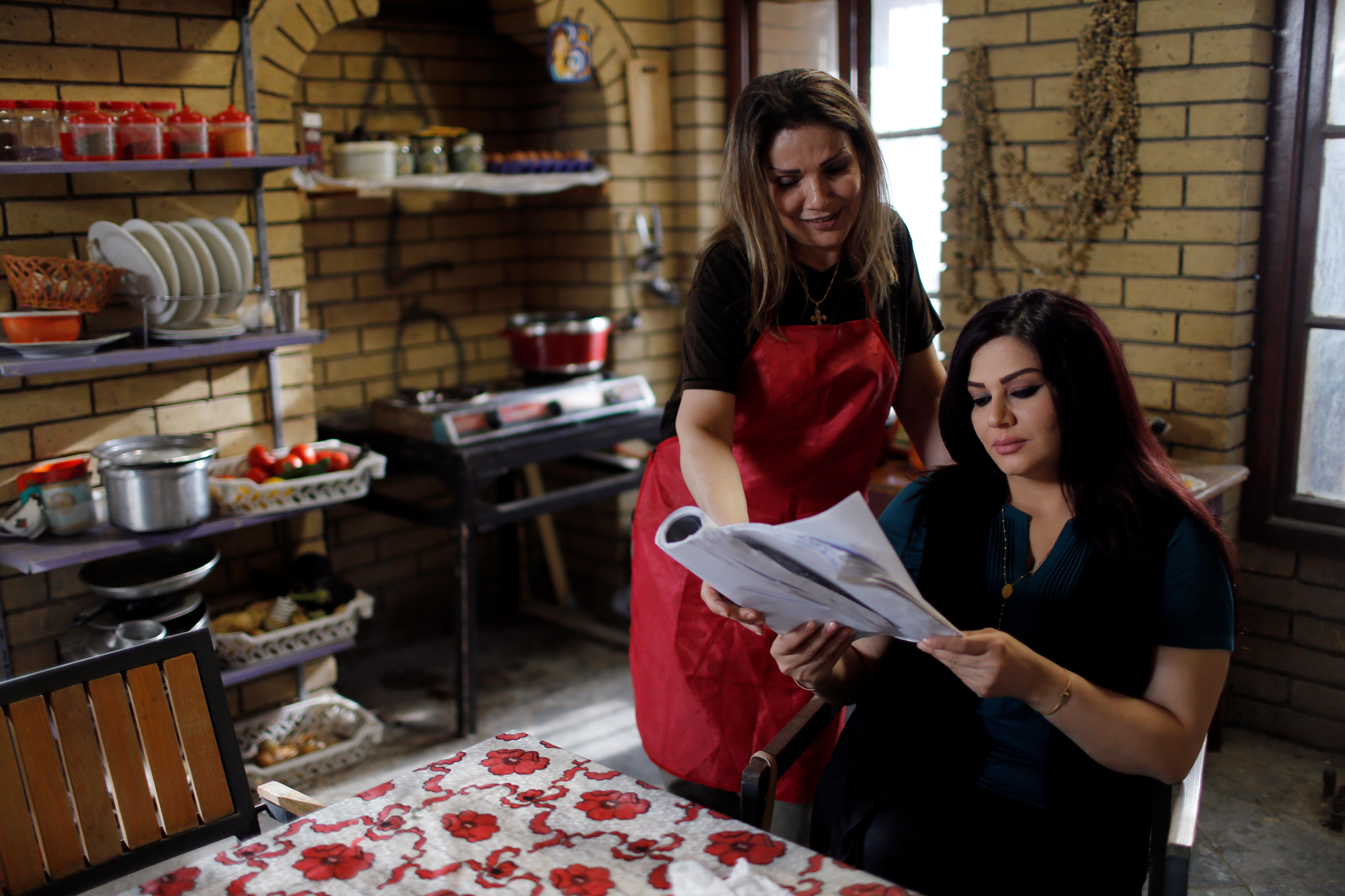 Iraqi actors prepare for filming of Iraqi TV serial 'The Hotel,' May 12, 2019