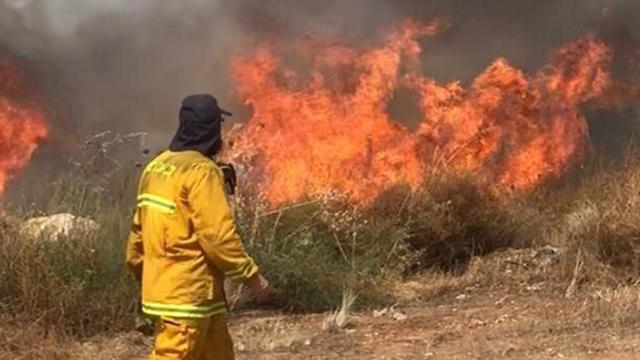 שריפה יעד אלעד בגלל מדורות ל