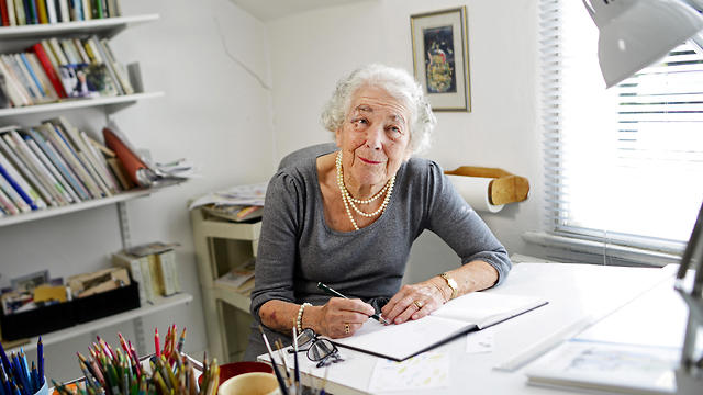 Judith Kerr sits by her desk at her home in west London, Britain September 30, 2015