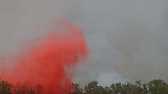 שריפה בכפר אוריה (צילום: שחר קציר)