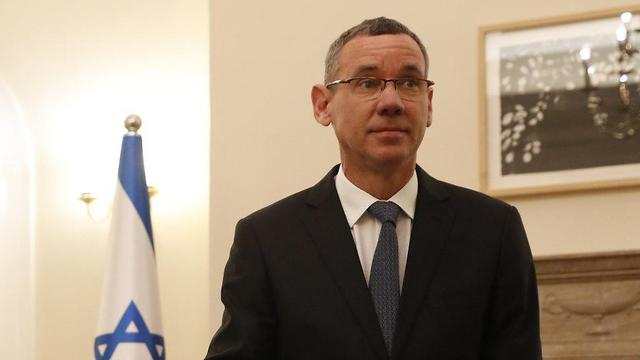 Mark Regev at the Israeli embassy in London