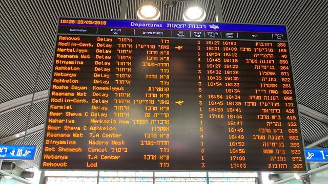 עיכובים ברכבת ישראל בעקבות החום הכבד והשריפות ()