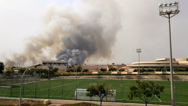 שריפה בבן שמן  (צילום: נדב לקס )