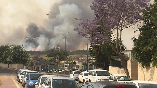 The massive Ben Shemen forest fire earlier this summer