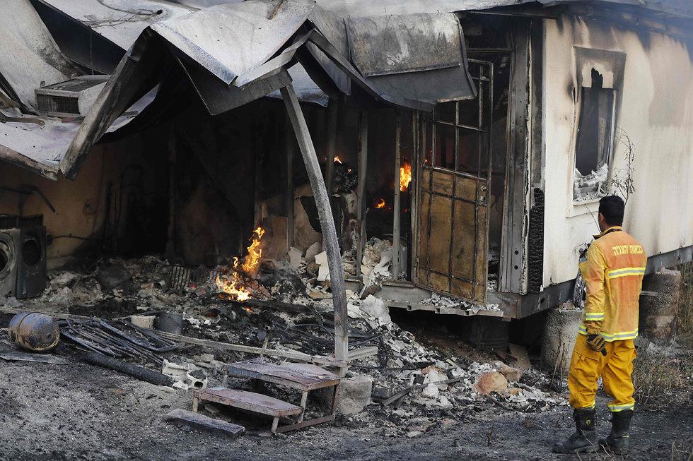 Homes destroyed in Harel