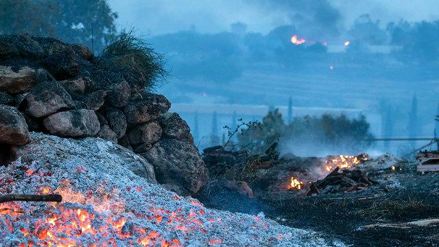 Kfar Uriyah blaze