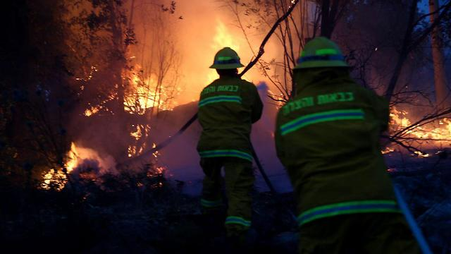 Firefighters battled flames all night