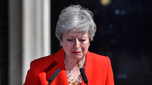 תרזה מיי ראש ממשלת בריטניה התפטרה (צילום: EPA)