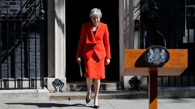 Theresa May outside 10 Downing St