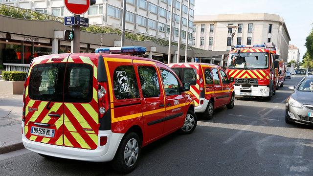 צרפת: 10 פצועים בפיצוץ בעיר ליון (צילום: רויטרס)