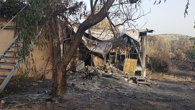 Damage in Kibbutz Harel