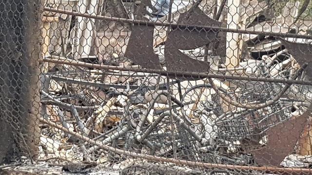 מחסן האופניים לבעלי צרכים מיוחדים של אסף לזר שנהרס בשריפות בקיבוץ הראל (צילום: אסף לזר )