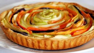 קיש ירקות ברבע שעה ()