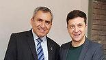 פגישה ראשונה בין שר ישראלי לנשיא אוקראינה הנבחר וולודימיר זלנסקי ()