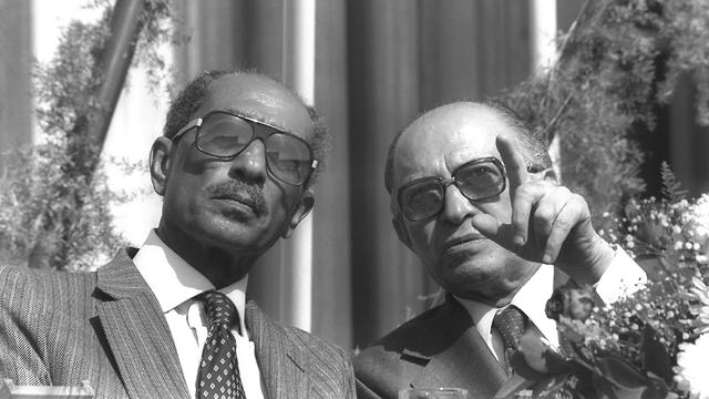 Sadat and Begin visit Beersheba (Photo: GPO) (Photo: GPO)