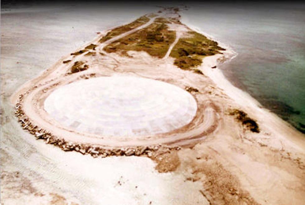 כיפה כיפת ה קקטוס ניסוי גרעיני אי רוניט איי מרשל דליפה רדיואקטיבית (צילום: AFP)