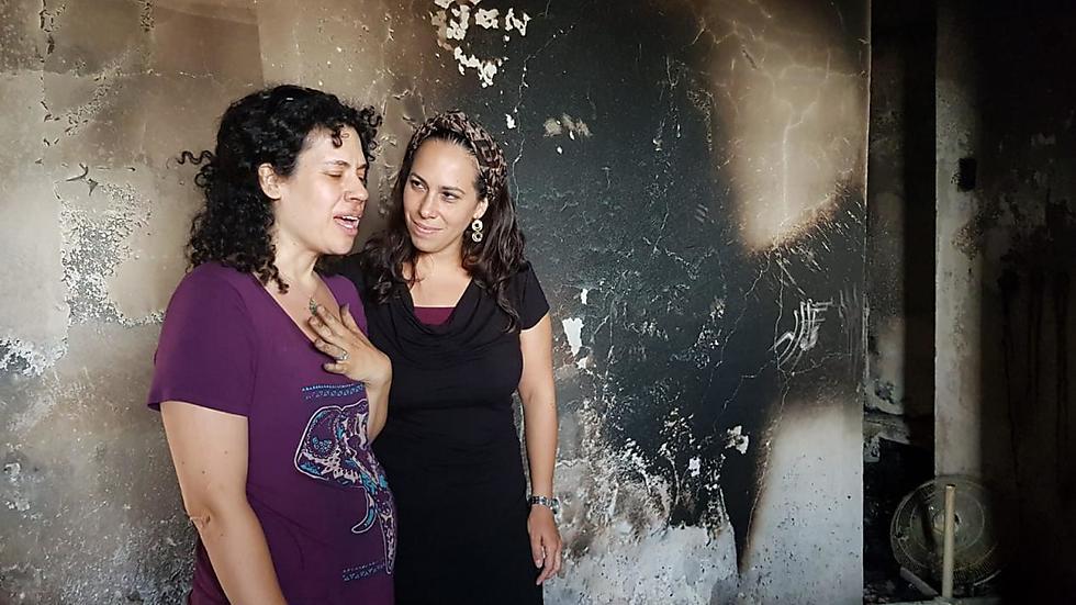דרי קרליבך עם חברת הילדות, יעל אקשטיין (באדיבות