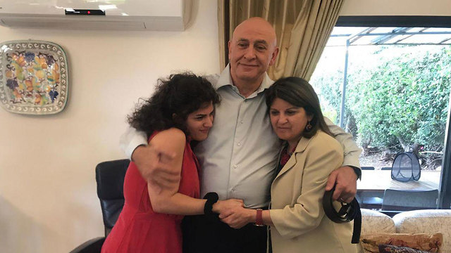 Ghattas at home following his release