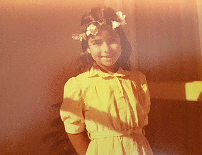 """גולי לוי, תמונת ילדות. """"הוריי התגאו בכישרון שלי ועודדו אותו מאוד"""" (צילום: אלבום פרטי)"""