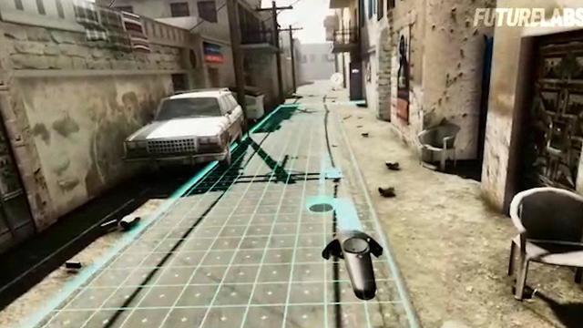 Simulated combat scene